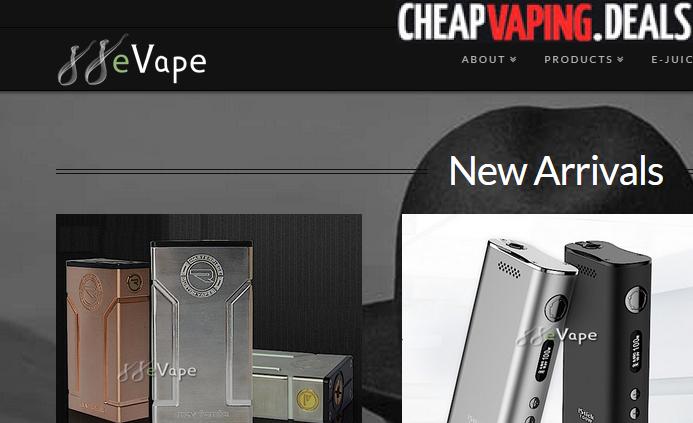 88evape.com coupon deal