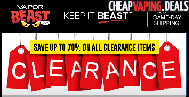 VaporBeast: Blowout Clearance Sale - Cheap Vaping Deals