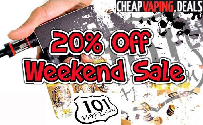 101vape 20 off weekend sale cheap vaping deals for Vape craft coupon code