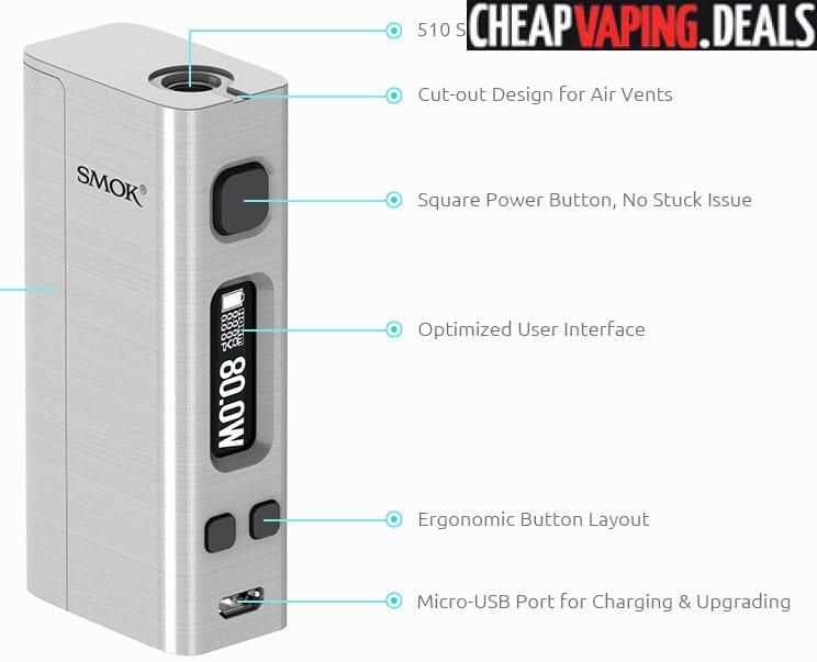 Smok R-Steam Mini Box Mod $34 99 - Cheap Vaping Deals