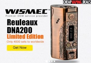 Blowout: Wismec Reuleaux DNA 200 Bronze Edition Box Mod $59.90