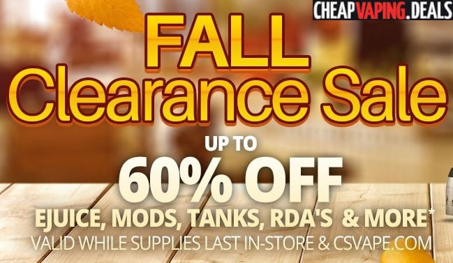 CSVape Fall Clearance: Up To 60% Off