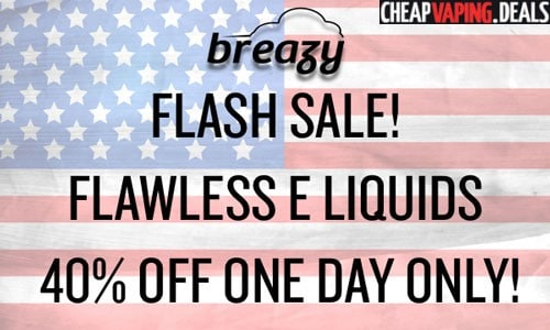TODAY ONLY - Breazy: 40% Off Flawless E-Liquid