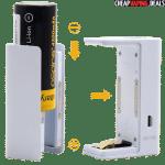 Convenient magnetic battery door