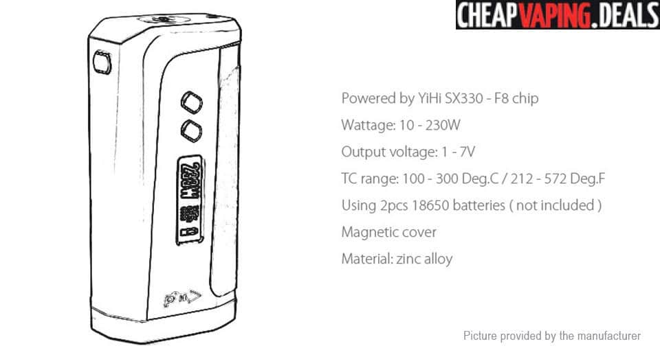 pioneer4you ipv 8 230w tc box mod w   yihi chipset  33 80