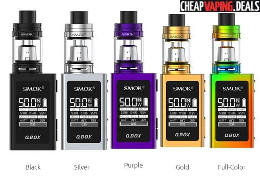 US Shipper: Smok Q-Box 50W Box Mod Kit $35.99