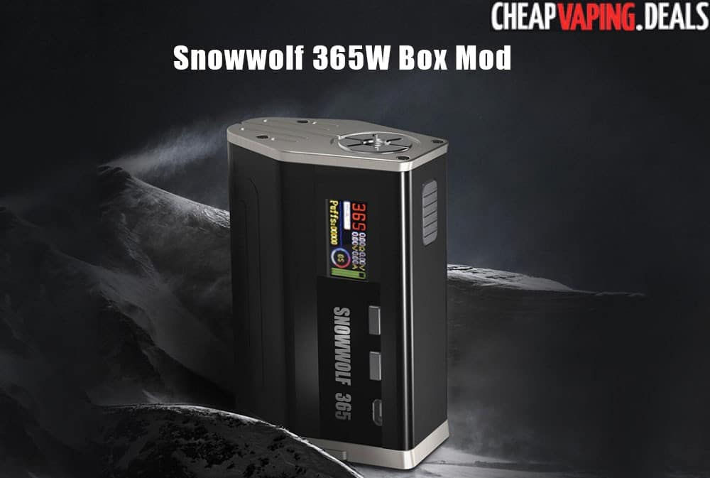 Sigelei Snowwolf 365 365w Box Mod 44 95 Cheap Vaping Deals
