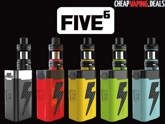US Shipper Blowout: Kanger Five6 222W Box Mod Kit (5 Batteries & 8ml Tank) $51.99