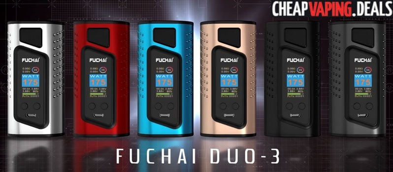US Shipper Blowout: Sigelei Fuchai Duo-3 175W Box Mod $37.99