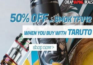 50% Off Smok TFV12 w/ Taruto E-Liquid Purchase