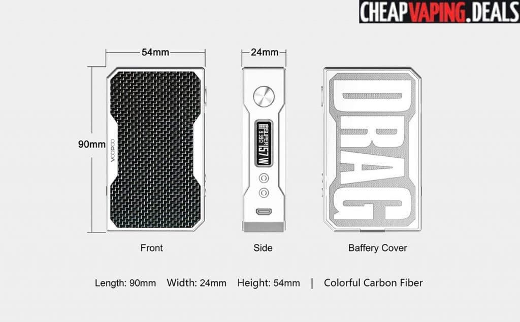 Voopoo Drag 157W Resin Box Mod $36 99 - Cheap Vaping Deals