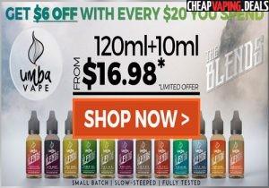 Umba Vape Premium E-Juice: 130ml/$16.98
