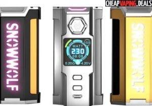 Sigelei Snowwolf Vfeng 230W Box Mod $53.99 & Free Shipping