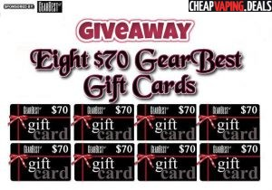 Giveaway: 8 x $70 GearBest Gift Cards
