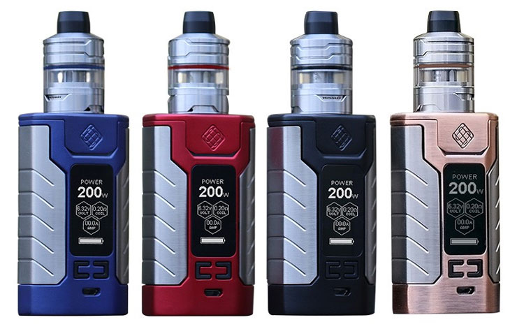 Wismec Sinuous FJ200 4600mAh/200W Kit & Free 30mL Exempt E-Liquid $15.99 (USA)