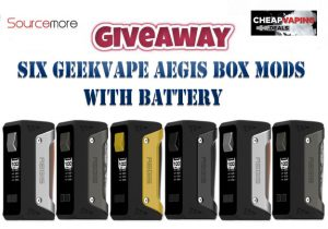 Giveaway: Six Geekvape Aegis Box Mods w/ Battery