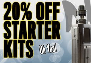 MyFreedomSmokes: 20% Off Starter Kits