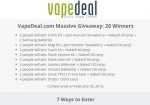 Massive Giveaway: 20 Winners