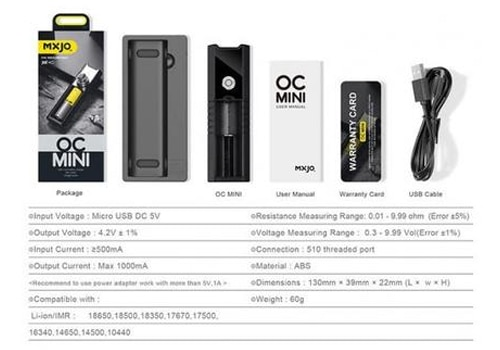 Mxjo Oc Mini One Bay Charger Ohm Tester Voltage Meter 1495