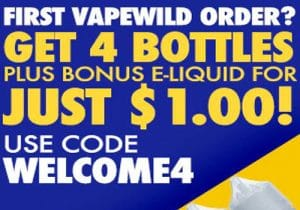 Blowout: 120ML (4 x 30ML) Vape Wild Sample Pack $1.00 & Free Shipping