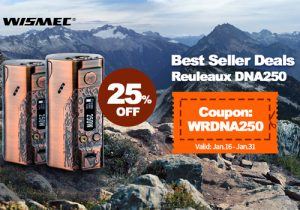 25% Off Wismec Reuleaux DNA250 TC Box Mod 250W (Limited Edition)