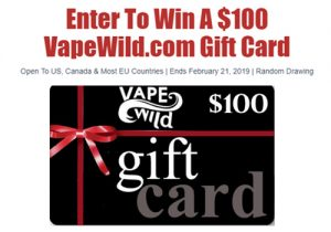GiveAway: $100 VapeWild Gift Card