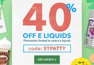 Breazy St. Patty's: 40% Off Select E-Liquids | 80% Off Hardware Blowouts