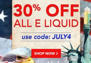 Breazy 4th Of July: Up To 80% Off Hardware Sale & Extra 10% Off | 30% Off All E-Liquids
