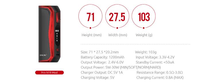 Smok Priv N19 1200mAh Mesh Kit $19 69 - Cheap Vaping Deals