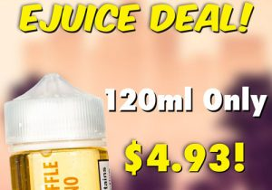 Back On! TheSauceLA E-Juices: $4.93/120mL (USA)