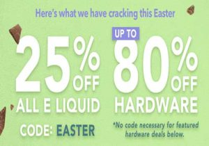 Breazy Easter Sale: 25% Off All E-Liquids |  Up to 80% Off Hardware Sale & Extra 15% Off (USA)