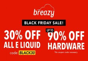 Breazy: Up To 90% Off Hardware & Extra 15% Off | 30% Off All E-Liquid (USA)